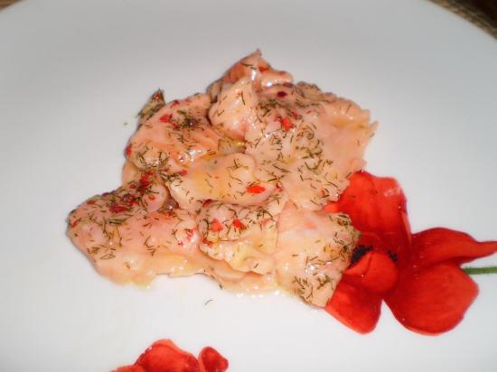 Carpaccio de saumon (Entrées)