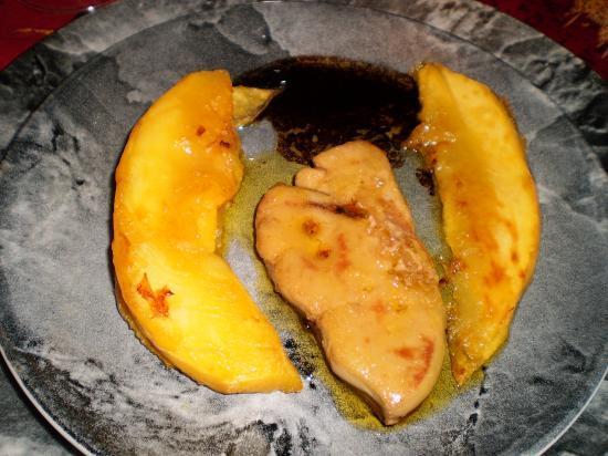Foie gras frais à la mangue