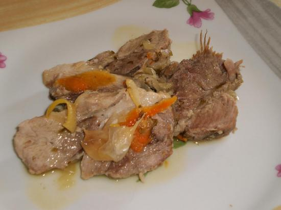 Roti porc aux agrumes